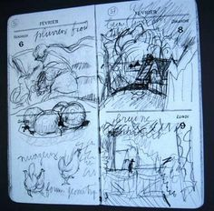 Pierre Bonnard: The Late Interiors - oranges and chickens  #Sketchbook