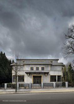 Villa Empain, au Sud de Bruxelles, sur la prestigieuse avenue Franklin Roosevelt, à l'ombre du Bois de la Cambre, chef d'œuvre radical et somptueux de Michel Polak, désormais Fondation Boghossian, Bruxelles, Belgium.