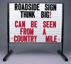 Roadside Readerboard Sidewalk Sign by Sign Fort $320