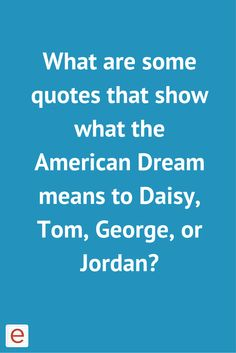 in the great gatsby how does gatsby represent the american dream Jay gatsby represents a form of unrealistic idealism that is both promoted and condemned by the american dream basic principles of the american dream.
