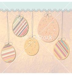 Easter eggs background eps 8 vector on VectorStock®