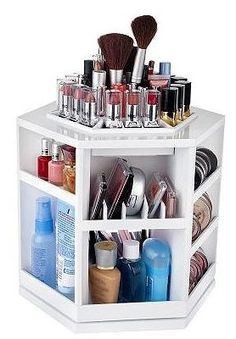 Perfect for storing all your makeup in one space-saving container. http://thepageantplanet.com/category/hair-and-makeup/