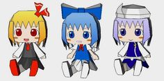 here are six cute paper dolls in chibi style from the japanese anime and mang series