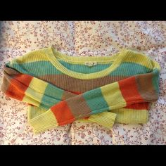 "✨Anthropologie✨ Mine ✨striped sweater✨$15 SALE✨ EUC, measures approx 22"" overall and 32"" in the bust. 100% cotton Anthropologie Sweaters Crew & Scoop Necks"