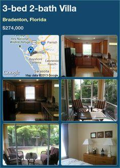 3-bed 2-bath Villa in Bradenton, Florida ►$274,000 #PropertyForSale #RealEstate #Florida http://florida-magic.com/properties/6093-villa-for-sale-in-bradenton-florida-with-3-bedroom-2-bathroom
