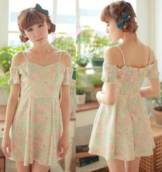 Japan Kawaii Princess Cute Sweet Dolly Lolita elegant Floral Sleeveless Dress