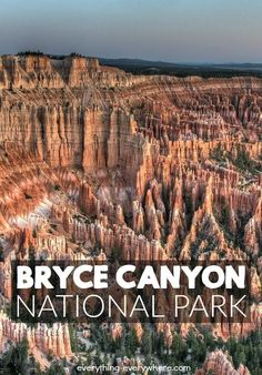 Technically speaking, Bryce Canyon isn't a canyon. It's an amphitheater.  That being said, whatever you call it, Bryce Canyon is incredible. It isn't the biggest national park, but the Bryce Canyon Amphitheater is an incredible thing to experience.
