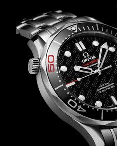 OMEGA Watches: Seamaster 300 M Chronometer - Steel on steel - Montre James Bond, Omega James Bond, Omega Seamaster James Bond, Omega Seamaster 300, Dream Watches, Luxury Watches, Rolex Watches, Best Watches For Men, Cool Watches