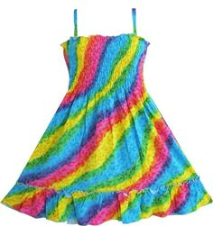 Find More Dresses Information about Girls Dress Rainbow Smocked Halter Children Clothing SZ 2 10,High Quality dress super,China dress business casual attire Suppliers, Cheap clothing carters from Sunny Fashion Boutique on Aliexpress.com