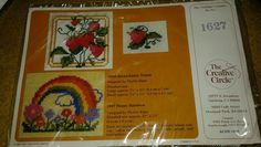 Happy  Rainbow -The Creative Circle Waste Canvas Kit #1627 -Phyllis Kiger-1983 #TheCreativeCircle #WasteCanvas