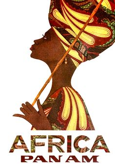 African Pan Am Airlines - Vintage Poster