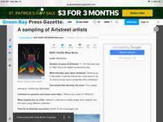 Usa Today, Art Fair, Green Bay, Wisconsin, Galleries, Mixed Media, Ads, Mixed Media Art