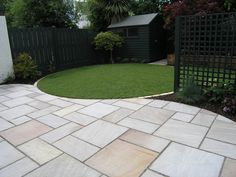 Garden Paving 2 House Garden Design Garden Paving Garden pertaining to Garden Paving Ideas Home Garden Design, Small Garden Design, Patio Design, Circular Garden Design, Garden Design Layout Modern, Layout Design, Garden Design Plans, Modern Design, Design Ideas