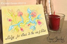 Check the inside message at http://etsy.me/1FxV6M4 #drawing #motivational #cards #nature #Etsy #eco #awareness