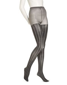c667a3281b6 No nonsense Fashion Tights Opaque Sheer Houndstooth Tight M L