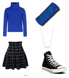 """""""Cute Schoolgirl Outfit"""" by theaterflyer on Polyvore featuring DKNY, Converse and Ralph Lauren"""