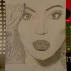 """Drawing of the day: Beyonce. More to come. #portrait #queenB #beyonce #art #fanart #pencil #yonce"""""""