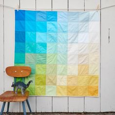 This beautiful handmade quilt is made from 64 different shades of 100% Kona cotton and all natural batting. Perfect for the floor, the crib, or...