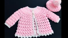 Crochet Baby Cardigan Free Pattern, Crochet Baby Sweaters, Baby Sweater Patterns, Crochet Baby Clothes, Newborn Crochet, Crochet Baby Hats, Baby Knitting, Knit Crochet, Crochet Cardigan