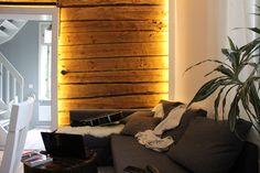 logwall, led-lighting, rustic