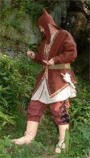 Modern reenactors with Scythian style clothing and Accouterments.