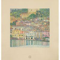 "Gustav Klimt (Austrian, 1862-1918), ""Malcesine on Lake Garda,"" collotype"