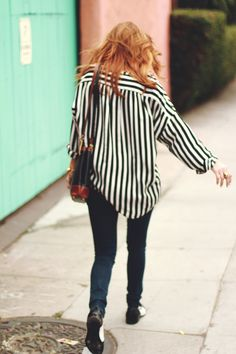 This looks like an outfit I wear all the time. Love the edgy casual.