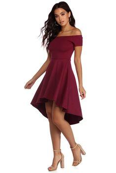2fb8baeef540 All The Rage Skater Dress. Burgundy High Low DressBurgundy Formal ...