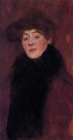 Gustav Klimt - Woman with Fur Collar 1897 | Flickr - Photo Sharing!