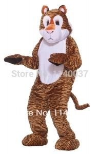 costume cosplay Tiger Basic Plush Mascot Costume Cartoon Character carnival costume fancy Costume party #Affiliate