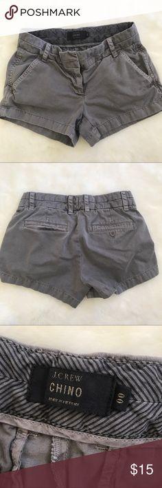 JCrew chino shorts Good condition JCReW Chino gray shorts, size 00 (c) JCrew Shorts