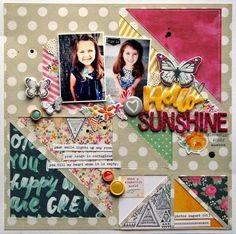 Hello sunshine - Nicole Nowosad for Scrapbook & Cards Today Magazine