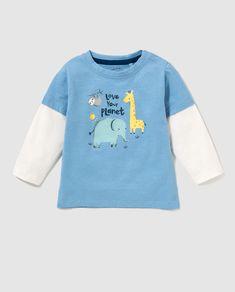 5d1c457a2 Camiseta de bebé niño Unit Azul · Moda y Accesorios · Hipercor