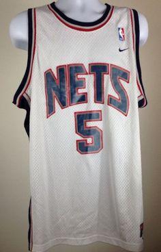 Jason Kidd 5 New Jersey Nets Vintage Nike Sewn Jersey Size XL | eBay