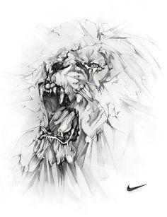 Alexis marcou - nike lion art graphite drawings, drawings et Animal Drawings, Art Drawings, Tattoo Drawings, Lion Art, Graphite Drawings, Illustrations Posters, Lions, Amazing Art, Concept Art