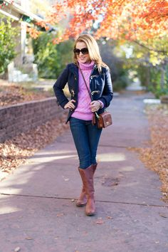 Jacket: J.Crew (this year's longer version here ) | Sweater: J.Crew  in XXSP | Denim: 7FAM  | Boots: The Frye Company  (also at Zappos ) | ...
