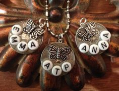 Initial or Name Necklace on a Coin  yes it's a by AnnPedenJewelry