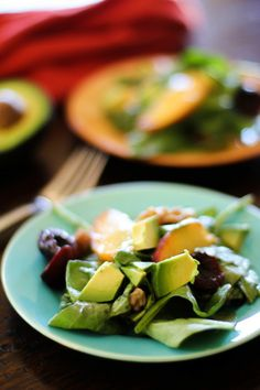 Stone Fruit Spinach Salad