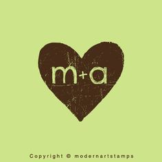 Custom Wedding Stamp - Custom Rubber Stamp - Personalized Stamp - Custom Stamp - Vintage Heart with Initials - C554 on Etsy, $10.93 AUD