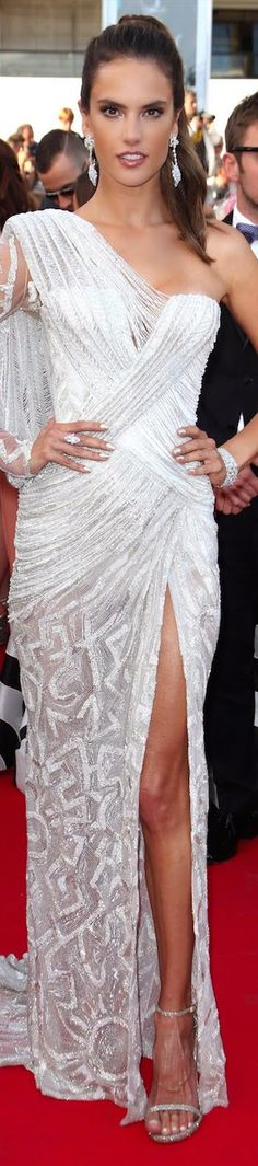 Alessandra Ambrosio inAtelier Versace at the Cannes International Film Festival May, 2014