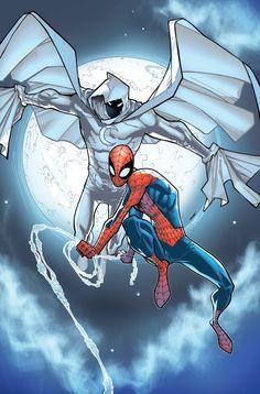 Moon Knight and Spider-Man by Humberto Ramos