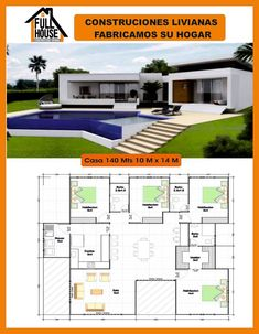 House Helpful Tips For modern home design exterior Modern Tiny House, Modern House Plans, Small House Plans, Modern House Design, 2 Bedroom House Plans, Dream House Plans, House Floor Plans, Casas Containers, Bungalow House Design