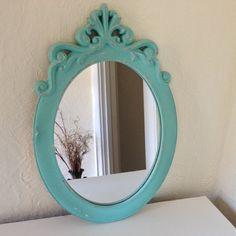 Shabby Chic oval mirror large by MySugarBlossom on Etsy