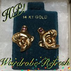 14kt Gold Aladdin, Abu Monkey Earrings Who doesn't love Abu, am I right? These are 14kt gold. Never worn. ✅ Bundle and save on shipping! ✅ All reasonable offers are considered.  ✅ I always ship right away.  ❌ PayPal ❌ Trades ❌ Lowballing Jewelry Earrings