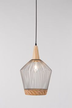 Elegant and beautifully stylish, the Birdy Wire Pendant Light, with braided rattan border, will bring a touch of Scandi design to your room. Wire Pendant Light, Pendant Lamp, Pendant Lighting, Unique Lighting, Wood Lamps, Lamp Design, Light Shades, House Doctor, Lamp Light