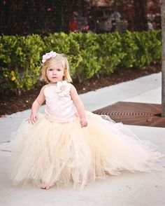 Pink Lace Flower Girl Wedding Tutu Dress