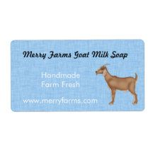 Homemade Goat Milk Soap Labels Shipping Labels #goat#goats milk#blue#home business#business