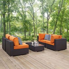 Coffee Table Dimensions, Sectional Sofa, Outdoor Sectional, Outdoor Living, Outdoor Decor, Outdoor Spaces, Patio Furniture Sets, Garden Furniture, Outdoor Settings