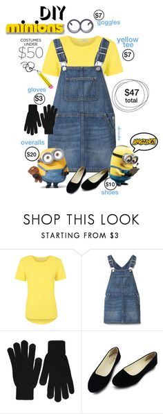 """""""Halloween Costumes under $50"""" by ultracake ❤ liked on Polyvore featuring George, Gap, minions, fashiontrend, halloweencostume and ultracake"""