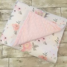 Sweet Roses baby blankets backed with a super soft dimple plush in a choice of colours. Perfect finishing touch for a vintage floral style nursery. Baby Girl Bedding, Girl Nursery, Nursery Decor, Cot Bedding, Floral Bedding, Floral Nursery, White Nursery, My Baby Girl, Baby Love
